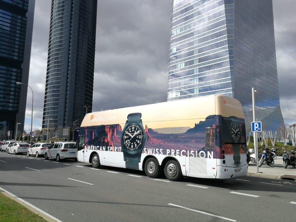 Autobus Valla - Relojes Hamilton Madrid
